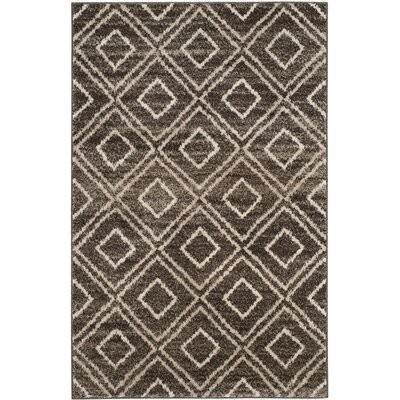Electra Brown Area Rug Rug Size: 4 x 6