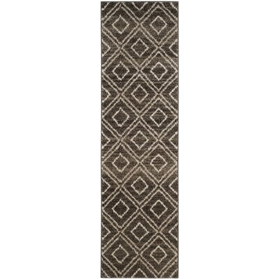 Electra Brown Area Rug Rug Size: Runner 23 x 8