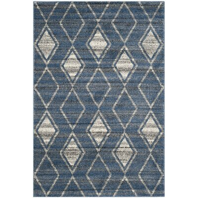 Electra Blue Area Rug Rug Size: 67 x 92