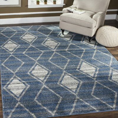 Electra Blue Area Rug Rug Size: Rectangle 9 x 12