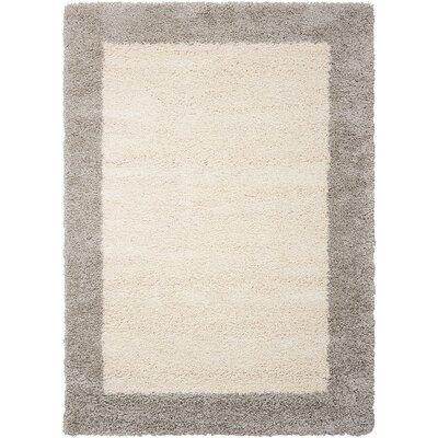 Emesa Ivory/Gray Area Rug Rug Size: 53 x 75