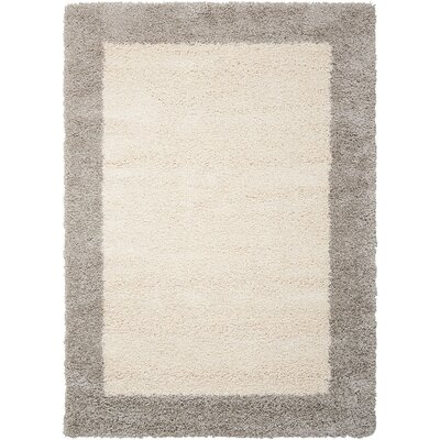 Emesa Ivory/Gray Area Rug Rug Size: Rectangle 311 x 511