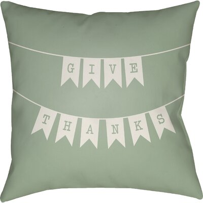 Martelli Indoor/Outdoor Throw Pillow Size: 20 H x 20 W x 4 D, Color: Green/White
