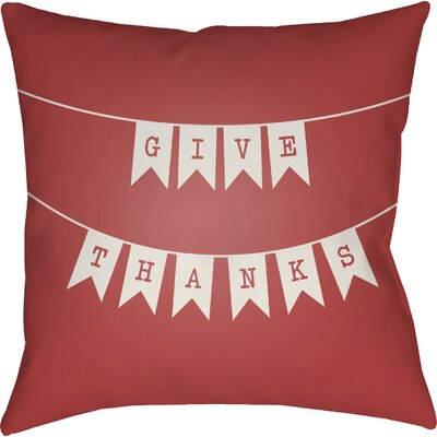 Martelli Indoor/Outdoor Throw Pillow Size: 20 H x 20 W x 4 D, Color: Red/White