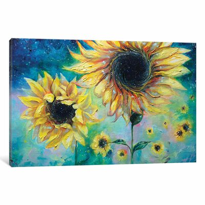 Supermassive Sunflowers Painting Print on Wrapped Canvas