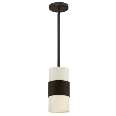 Ellicott 1-Light Mini Pendant Finish: Dark Bronze
