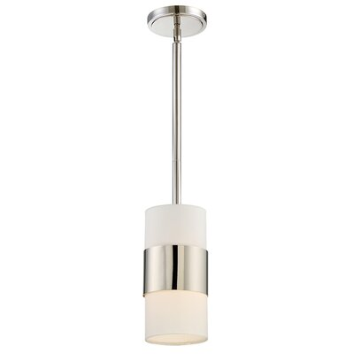 Ellicott 1-Light Mini Pendant Finish: Polished Nickel