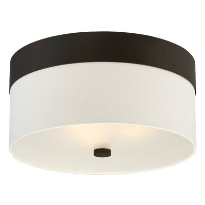 Ellicott 3-Light Flush Mount Base Finish: Dark Bronze