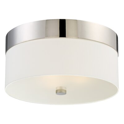 Ellicott 3-Light Flush Mount Base Finish: Polished Nickel