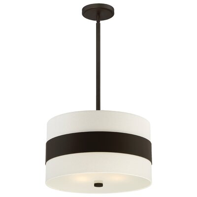 Ellicott 3-Light Drum Pendant Finish: Dark Bronze