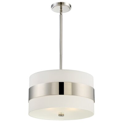 Ellicott 3-Light Drum Pendant Finish: Polished Nickel