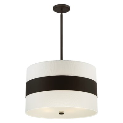 Ellicott 5-Light Drum Pendant Finish: Dark Bronze