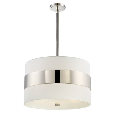 Ellicott 5-Light Drum Pendant Finish: Polished Nickel
