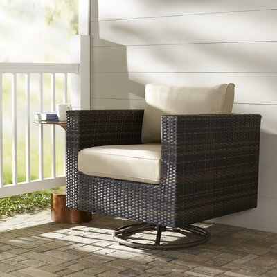 Brayden Studio Lara Swivel Rocking Chair with Cushions
