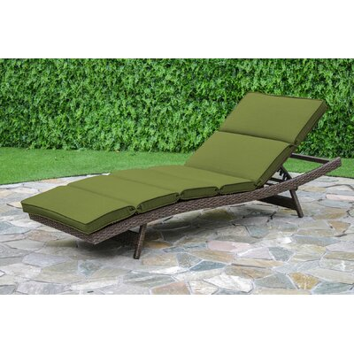 Fortenberry Outdoor Chaise Lounge Cushion Fabric: Verde