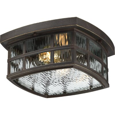 Lockett 2-Light Flush Mount Finish: Palladian Bronze