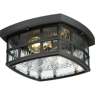 Lockett 2-Light Flush Mount Finish: Mystic Black