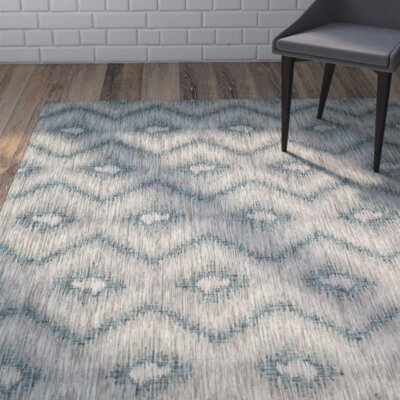 Mcguffin Gray/Blue Indoor/Outdoor Area Rug Rug Size: 67 x 96