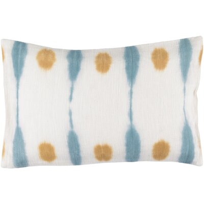 Morford Cotton Lumbar Lumbar Pillow Color: Burnt Orange / Sky Blue