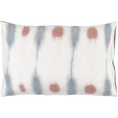 Morford Cotton Lumbar Lumbar Pillow Color: Rust / Slate