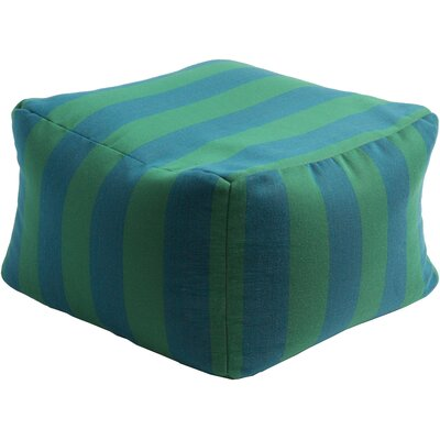 Mosquera Pouf Ottoman Upholstery: Teal / Green