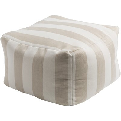 Mosquera Pouf Ottoman Upholstery: Ivory / Beige