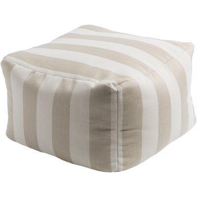 Mosquera Pouf Ottoman Upholstery: Ivory / Beige