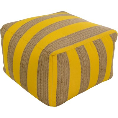 Mosquera Pouf Upholstery: Sunflower / Beige