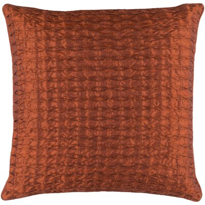 Morillo Throw Pillow Cover Color: Rust, Size: 22 H x 22 W x 0.25 D