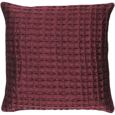 Morillo Throw Pillow Cover Size: 20 H x 20 W x 1 D, Color: Burgundy