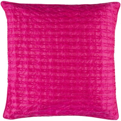 Morillo Throw Pillow Cover Size: 18 H x 18 W x 0.25 D, Color: Pink