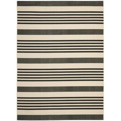 Eres Black/Bone Indoor/Outdoor Area Rug Rug Size: 8 x 112