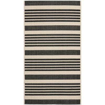 Eres Black/Bone Indoor/Outdoor Area Rug Rug Size: 2 x 37