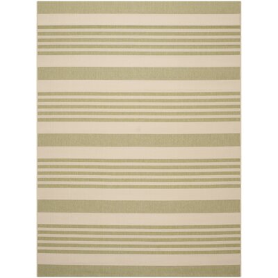 Sophina Beige/Sweet Pea Striped Contemporary Indoor/Outdoor Area Rug Rug Size: 8 x 11