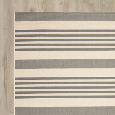 Eres Grey/Bone Indoor/Outdoor Area Rug Rug Size: Runner 23 x 8