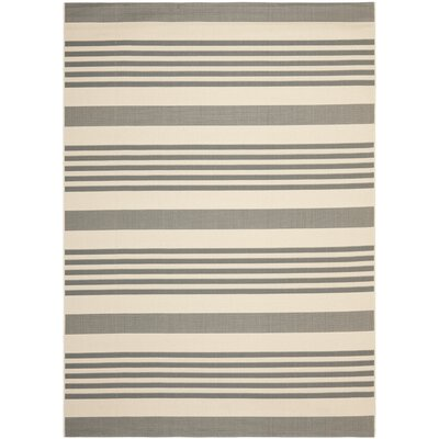 Eres Grey/Bone Indoor/Outdoor Area Rug Rug Size: 4 x 57