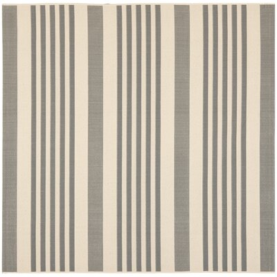 Sophina Gray/Beige Indoor/Outdoor Area Rug Rug Size: Square 5'3