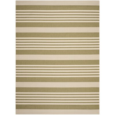 Sophina Green/Beige Indoor/Outdoor Area Rug Rug Size: Rectangle 8 x 11