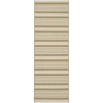 Sophina Green/Beige Indoor/Outdoor Area Rug Rug Size: Runner 23 x 67