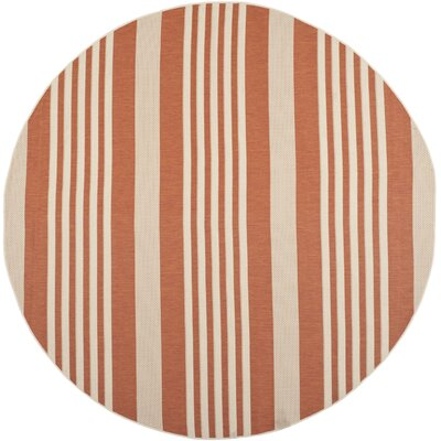 Sophina Orange Indore/Outdoor Area Rug Rug Size: Round 710
