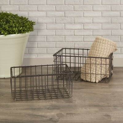 2 Piece Hoyle Wire Baskets Set