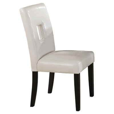 Mckinnie Parsons Dining Chair (Set of 2) Upholstery Color: White