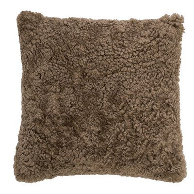 Elkins Park Sheep Fur Throw Pillow