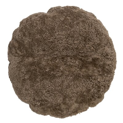 Ouzts Sheep Fur Throw Pillow Color: Nougat