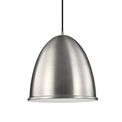 Darrington 1-Light Mini Pendant Finish: Satin Aluminum, Bulb Type: 100W A19 Medium Bulb