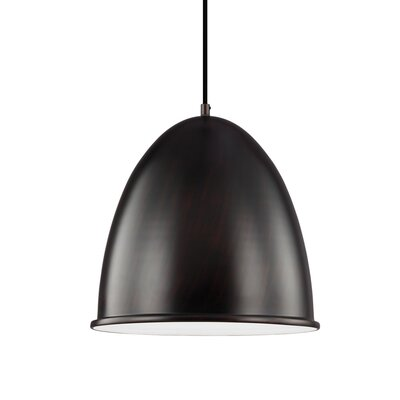 Darrington 1-Light Mini Pendant Finish: Burnt Sienna, Bulb Type: 100W A19 Medium Bulb
