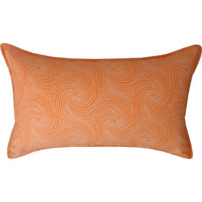 Kolby Outdoor Lumbar Pillow Color: Orange/Off-White