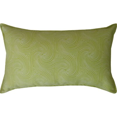 Kolby Outdoor Lumbar Pillow Color: Green/Off-White