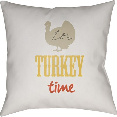 Massaro Indoor/Outdoor Throw Pillow Size: 18 H x 18 W x 4 D, Color: White/Beige/Yellow/Orange