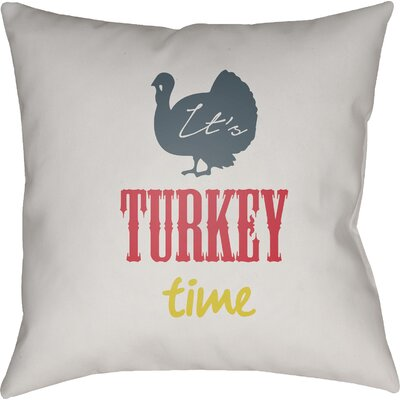 Turkey Indoor/Outdoor Throw Pillow Size: 18 H x 18 W x 4 D, Color: White/Blue/Red/Yellow